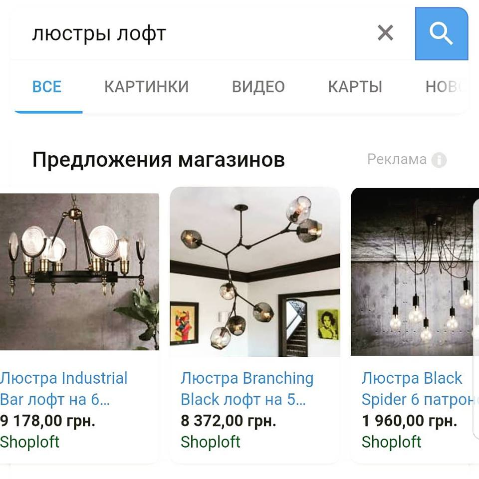 Google Shopping в действии